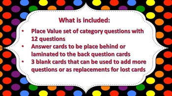 "Jeopardy Question Cards ""What's My Value?"" ((Value of Numbers))"