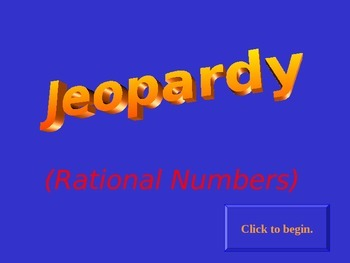 Jeopardy Rational Numbers