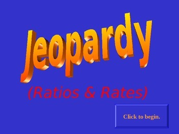 Jeopardy Ratios & Rates
