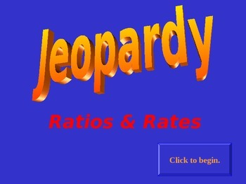 Jeopardy Ratios & Rates #2