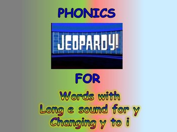 "Journeys 2nd Lesson 18 Jeopardy Phonics PPT for ""My Name is Gabriela"""