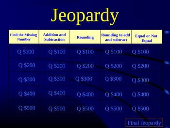 Jeopardy Review - EnVision Math Topic 2