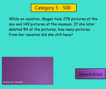 Jeopardy Review- 3NBT1, 3NBT2, 3OA8