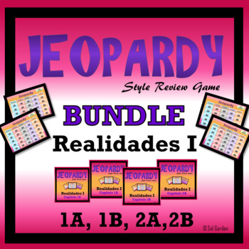 Jeopardy Review Bundle - Realidades I,  Chapters 1A, 1B, 2A, 2B