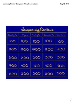 Jeopardy Review-Congruent Triangles