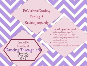 Jeopardy Review EnVisions Grade 4 Benchmark 5-8
