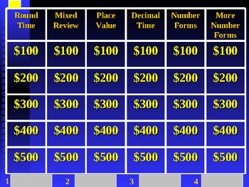 Jeopardy Review Game - 4th Grade Place Value