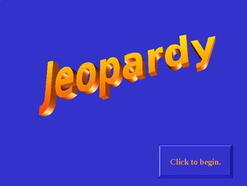 Jeopardy Review Game Avancemos 2 Preliminary Unit
