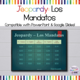 Spanish Commands Jeopardy Game