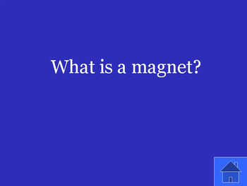 Jeopardy Review Game: Physical Science Unit on Magnetism