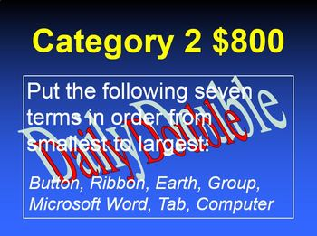Jeopardy Review Game PowerPoint Template