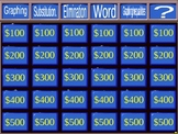 Jeopardy Review Game - Systems of Equations - Elimination - Substitution