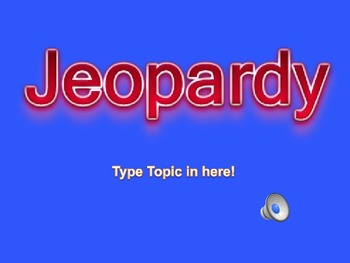 Jeopardy Review Game Teplate