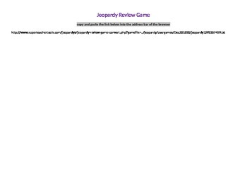 Jeopardy Review Game - Weblink - Web Based - Realidades Mid or Final Review