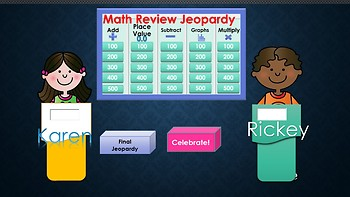Jeopardy Review Game for Third Grade