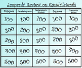 Jeopardy Review Game on Quadrilaterals