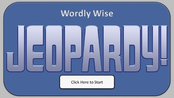 Jeopardy Review Game (with Score Keeper) - Wordly Wise Book 5, Lesson 01
