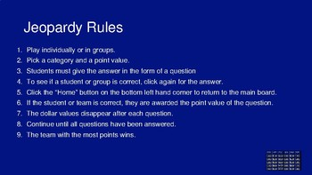 Jeopardy Review PPT Template with Sound
