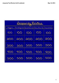 Jeopardy Review-Polygons