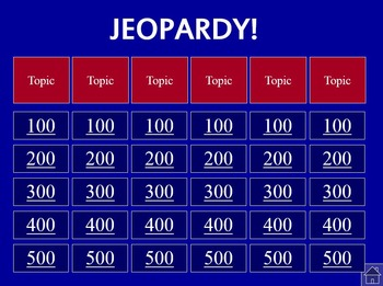 Jeopardy Review Template