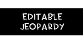 Jeopardy Review Template | EDITABLE