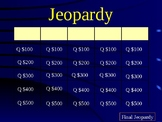 Jeopardy Review for Forming a New Nation