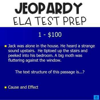 Jeopardy Review for TEST PREP (Editable)