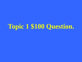 Jeopardy Review game blank template