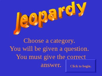 Jeopardy Review game for rotation, revolution, orbit, and seasons