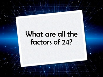 Jeopardy Review of Factors and Multiples