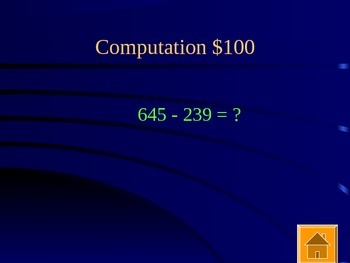 Jeopardy Review with Addition, Subtraction, and Estimation