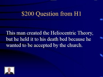 Jeopardy - Scientific and French Revolution