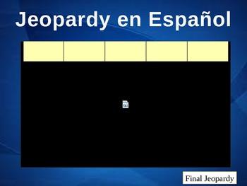 Jeopardy Ser & Subject Pronouns