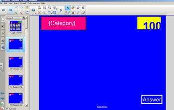 Jeopardy Style Smart Notebook Interactive