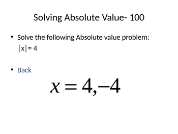 Jeopardy Solving Equations Inequalities and Absolute Value Algebra Games