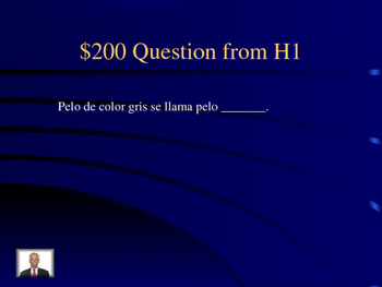 Jeopardy Spanish 1 Family/adjectives/present tense verbs Final Exam Review