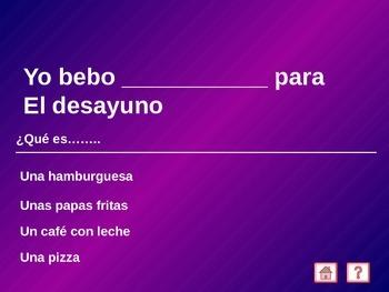 Jeopardy!  Spanish Food, ER and IR verbs