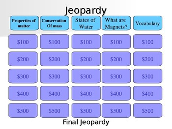 Jeopardy States of Matter review