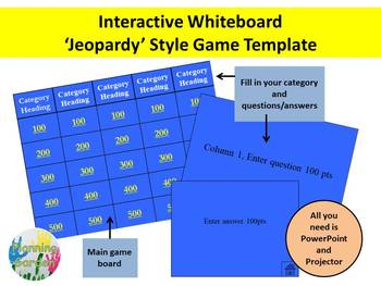 Trivia Game Board Template - Interactive whiteboard  PowerPoint Game