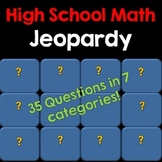Jeopardy Style High School Math Game