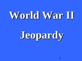 Jeopardy Style Review Game Template - World War II