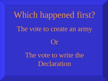 Jeopardy-Style Review Game of the American Revolution