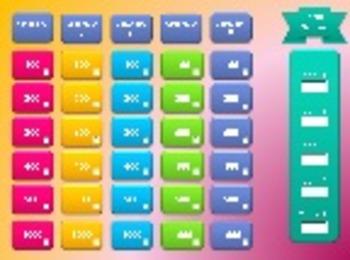 Jeopardy Style Test Preparation / Smart Board - PowerPoint