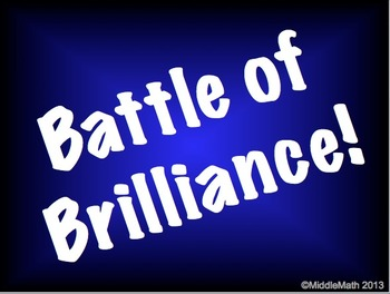 Battle of Brilliance Game Template