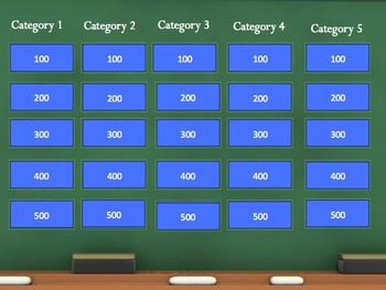 Jeopardy template by jordon worley teachers pay teachers for Microsoft powerpoint jeopardy game template
