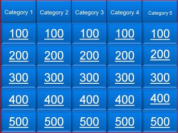 jeopardy template 25 questions by mr gallant tpt