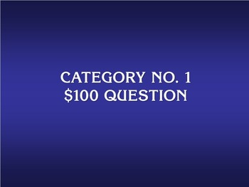 Jeopardy Template (30 questions)