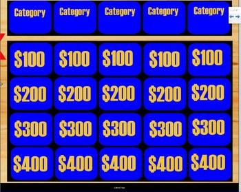 Smart Notebook Jeopardy Template