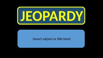 Jeopardy Template