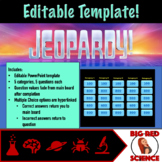 Editable Jeopardy Template